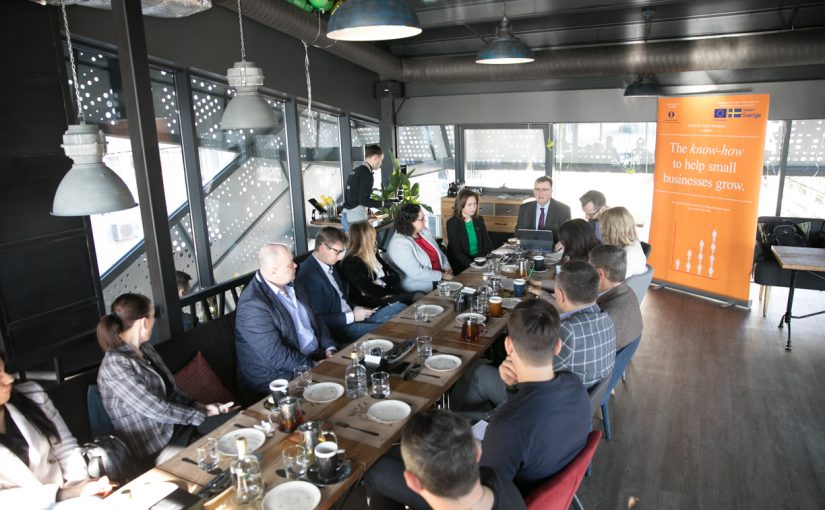 EBRD organized a business breakfast for representatives of engineering and construction companies, and industrial producers
