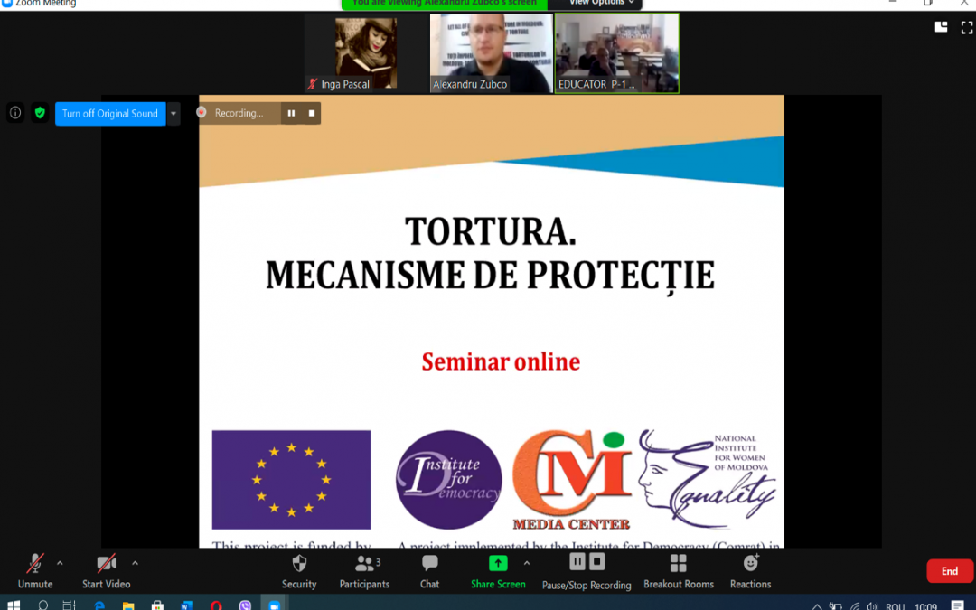 Preventing and Counteracting Torture and Other Inhuman or Degrading Treatment or Punishment Online seminar