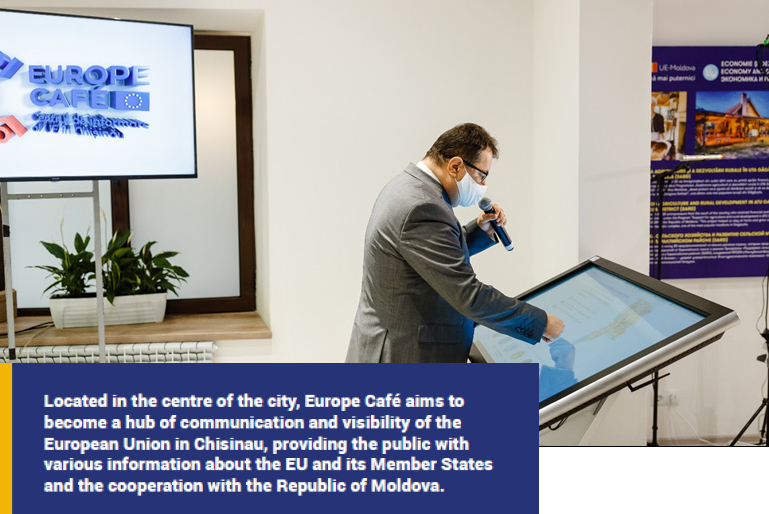 EUROPE CAFÉ, THE MAIN EUROPEAN UNION INFORMATION CENTRE IN CHISINAU, OPENED IN A VIRTUAL AND INTERACTIVE FORMAT FOR THE CITIZENS OF THE REPUBLIC OF MOLDOVA