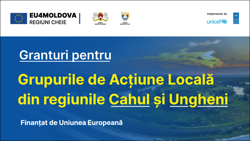 LOCAL ACTION GROUPS FROM CAHUL AND UNGHENI REGIONS BENEFIT FROM GRANTS OF TOTAL VALUE WORTH €200,000, THANKS TO THE EUROPEAN UNION'S FINANCIAL ASSISTANCE