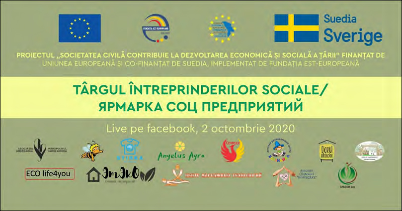SOCIAL ENTERPRISES' FAIR ORGANISED BY THE EAST EUROPE FOUNDATION