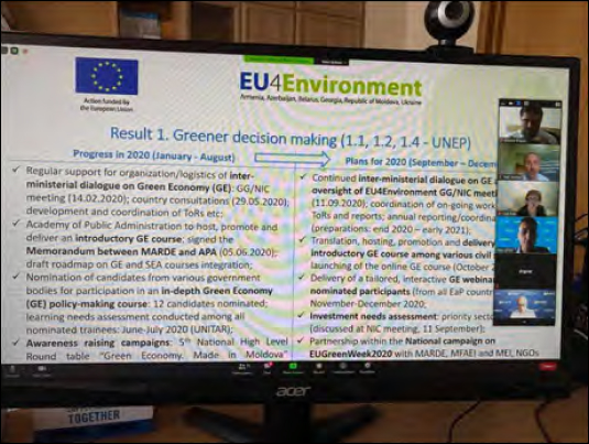 EU4ENVIRONMENT IN MOLDOVA – ONE YEAR OF IMPLEMENTATION! FIRST RESULTS – GREENER DECISION MAKING