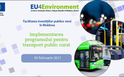 EU4ENVIRONMENT IS FACILITATING GREEN PUBLIC INVESTMENTS IN MOLDOVA BY IMPLEMENTING THE DESIGNED CLEAN PUBLIC TRANSPORT (CPT) PROGRAMME.