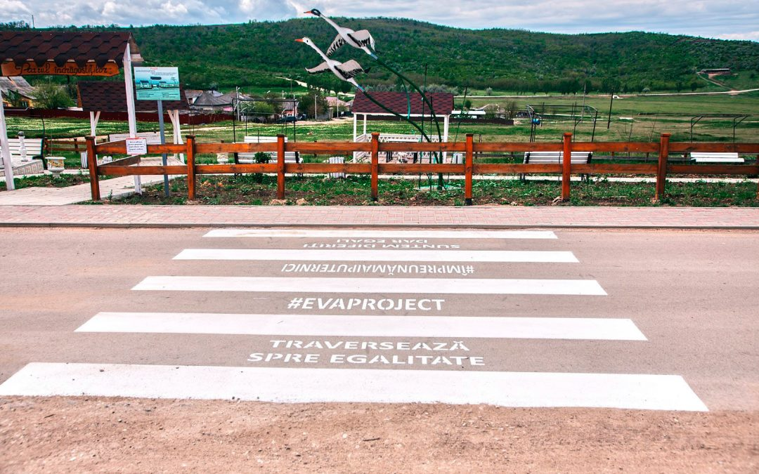 EUROPE DAY: PEDESTRIAN CROSSINGS WITH MESSAGES ABOUT GENDER EQUALITY IN THE DISTRICTS OF THE REPUBLIC OF MOLDOVA